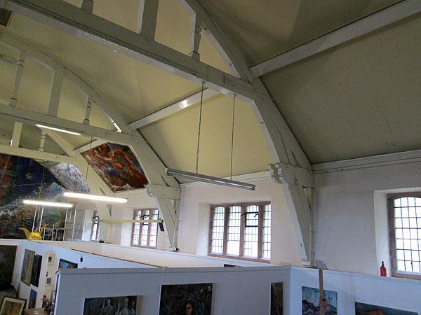st johns hall, flat ceiling panels